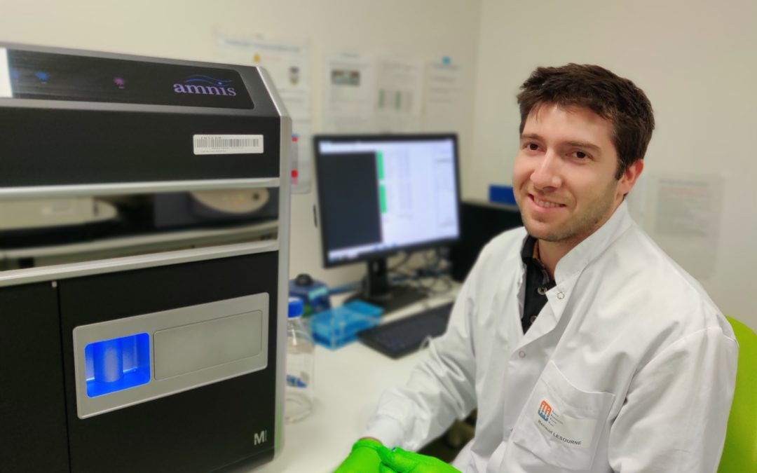 "Jérémy Argenty, postdoctoral fellow at the CPTP, winner of the 2020 ""Young Cytometrist Prize"" from the French Association of Cytometry."
